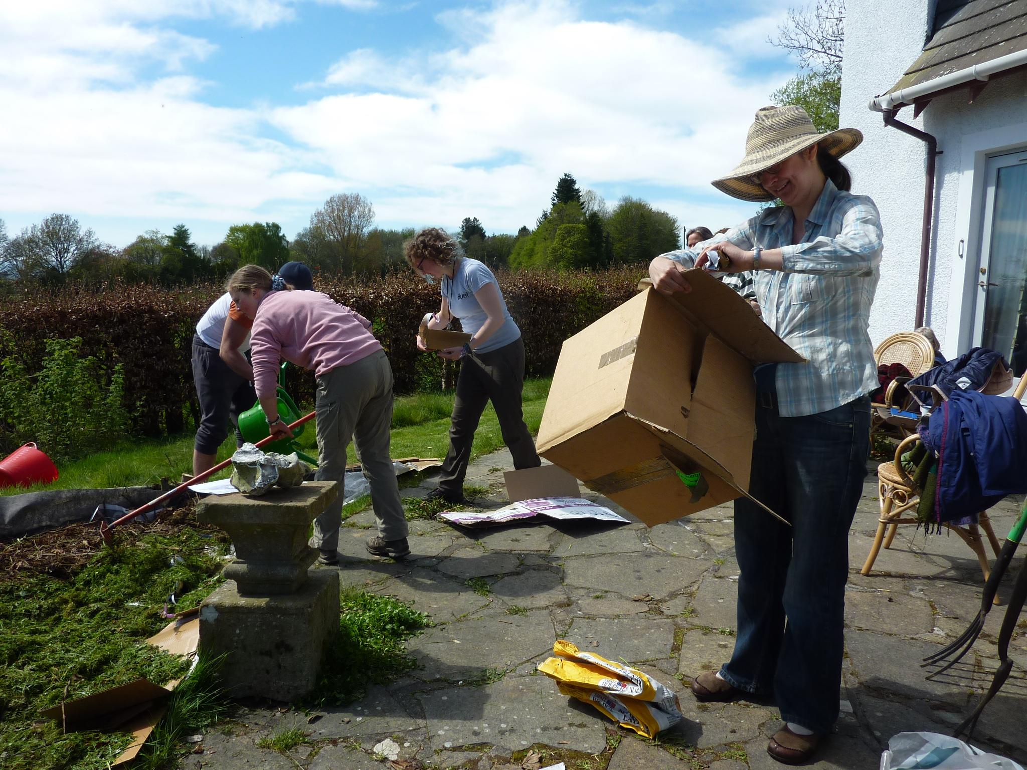 Making Hugel Beds during 'Permaculture in the Garden' workshop Summer 2017